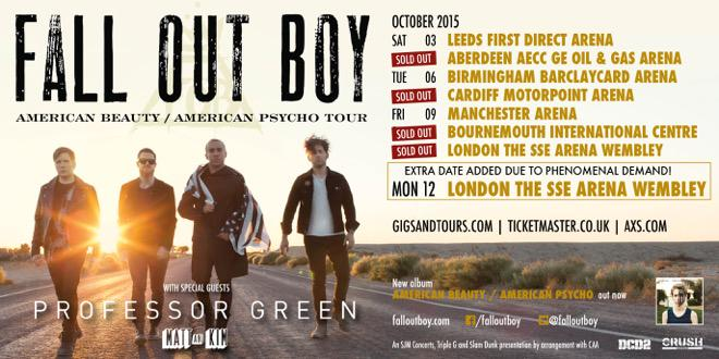Fall Out Boy Announce UK Tour Support
